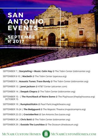 San Antonio Events - September 2017