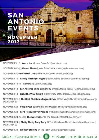 November Events In San Antonio