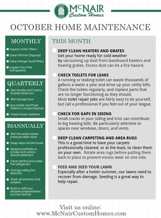 October's Home Maintenance Checklist