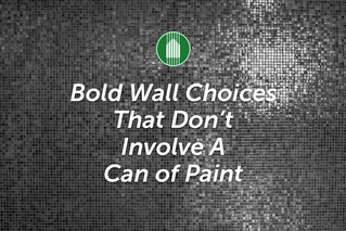 Bold Wall Choices That Don't Involve A Can of Paint