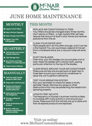 Your June Home Maintenance Checklist