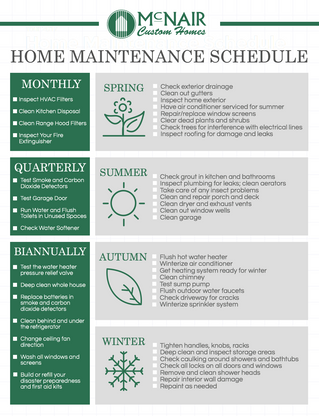 Home Maintenance All Year Long