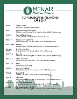 April Events in San Antonio