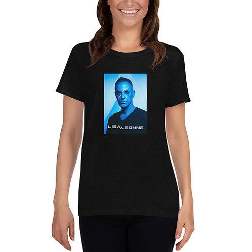 T-shirt noir avec photo Lisa Léonne pour femme