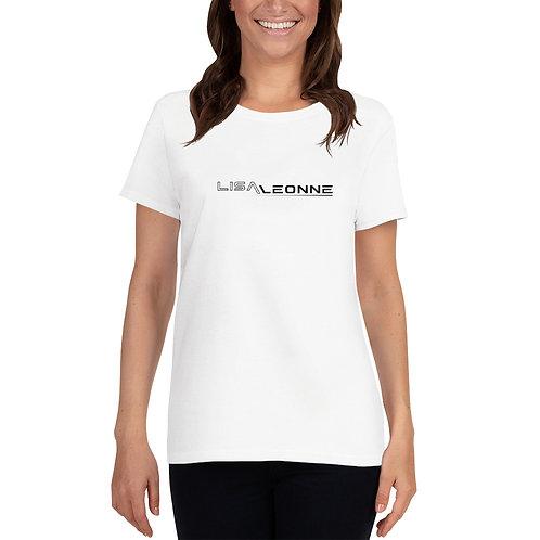 T-shirt femme blanc col rond