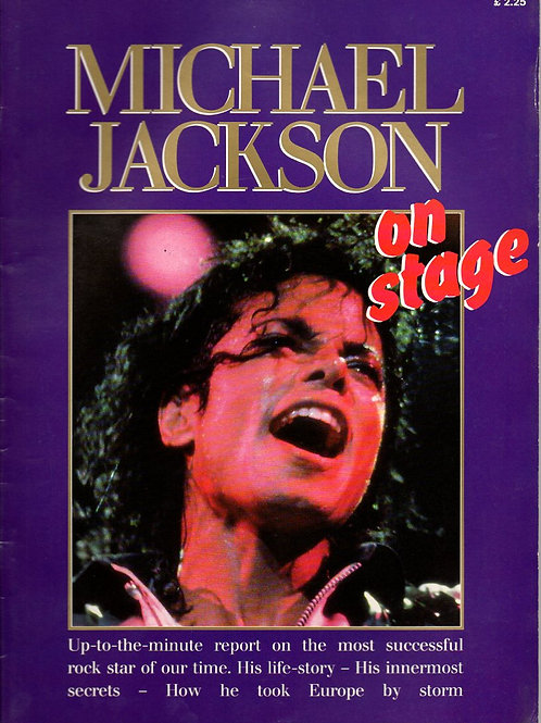 1988 ON STAGE Bad Tour Special Michael Jackson Magazine