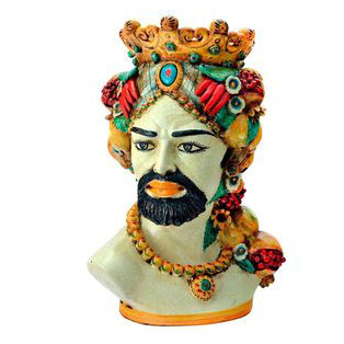 Typical 'Testa di Moro' ceramic Moor's head from Sicily