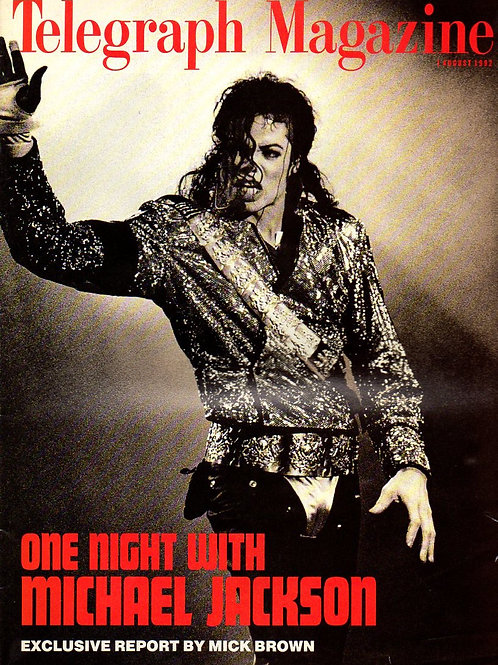 August 1992 ONE NIGHT WITH Michael Jackson Telegraph Magazine