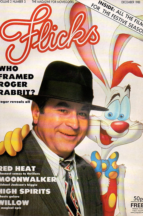 1988 FLICKS Magazine Roger Rabbit + 'MOONWALKER' December UK