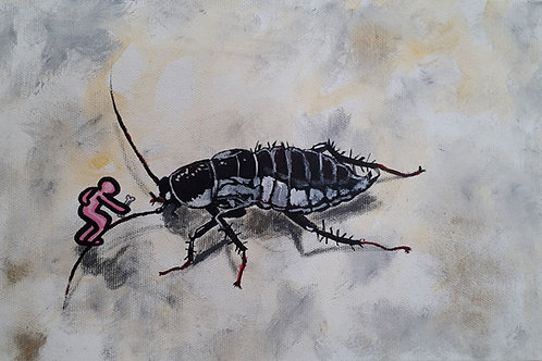 White City Gallery presents 'Scarafaggio' by street artist ALUA. Cockroach. Survivor. Apocalyptic. Taming the beast