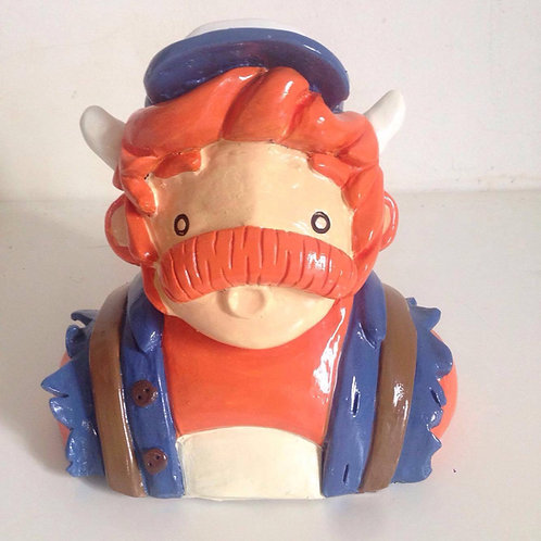 'Backpacker' sculpture by NAKI