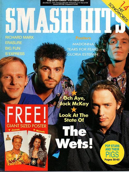 Wet Wet Wet British Smash Hits Magazine September 1989