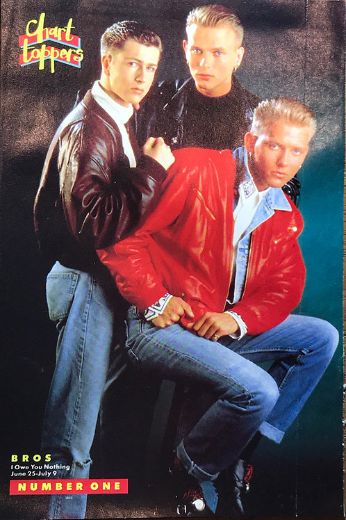 Number One Magazine Poster featuring BROS / Wet Wet Wet Chart Toppers