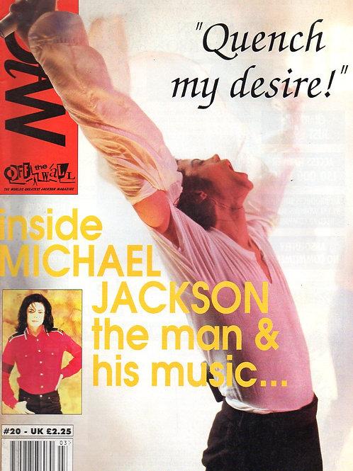 1993 #20 OFF THE WALL UK MAGAZINE MICHAEL JACKSON