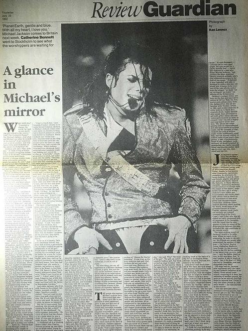1992 A Glance In Michael's Mirror MICHAEL JACKSON Guardian Dangerous Tour Review