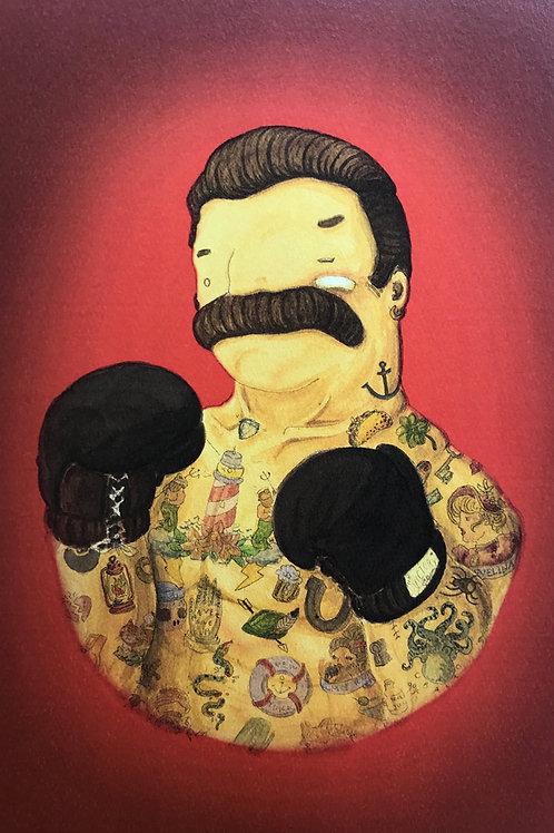'El Boxeador in Rosso' (Red Boxer) by NAKI