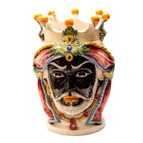 Traditional 'Testa di Moro' ceramic Moor's head from Caltagirone, Sicily