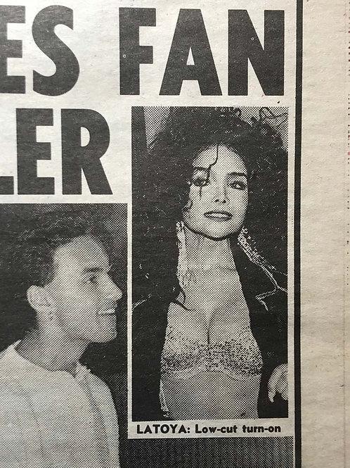 LaToya JACKSON News Of The World UK Newspaper Article Dec 1990
