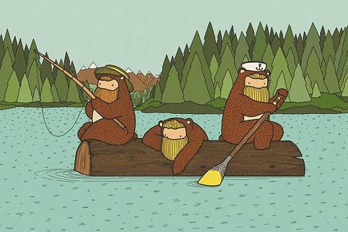 'Sunday on the Lake' Beardy Bears by NAKI