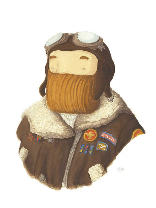 'Aviatore' Beardy Bear by NAKI