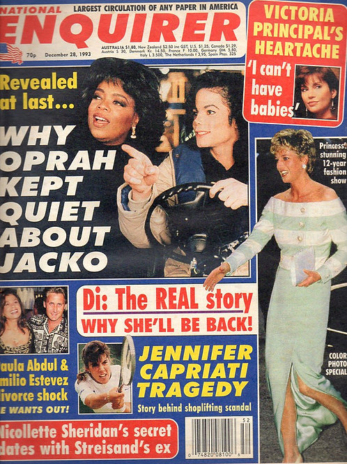 1993 Dec NATIONAL ENQUIRER MICHAEL JACKSON OPRAH WINFREY