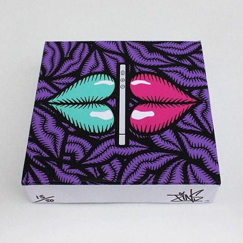 'iKiss' by PINS (mini canvas)