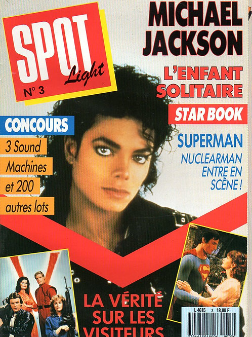 1987 No.3 RARE FRENCH Spot Light Magazine MICHAEL JACKSON MADONNA TINA TURNER