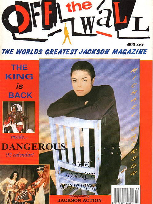 1992 #15 OFF THE WALL UK MAGAZINE + POSTER MICHAEL JACKSON