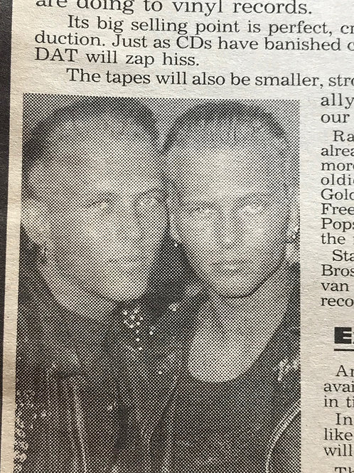 DAILY STAR Newspaper Article featuring BROS 'Pop Pickers' 1989 British