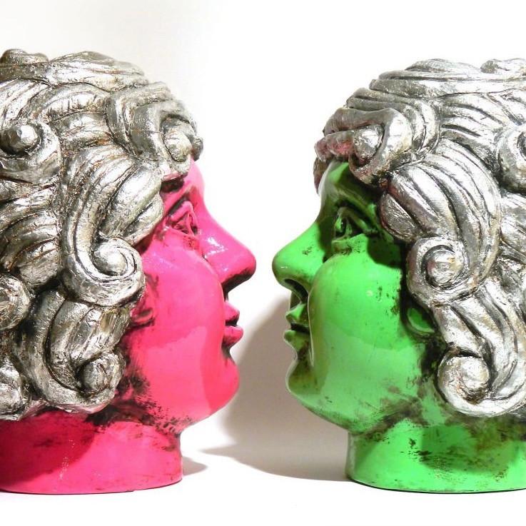 'Pop Baroque' porcelain head sculptures by Maurizio Lo Castro