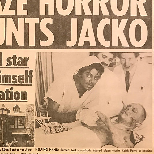 1990 Blaze Horror MICHAEL JACKSON RARE COLLECTABLE News Of The World