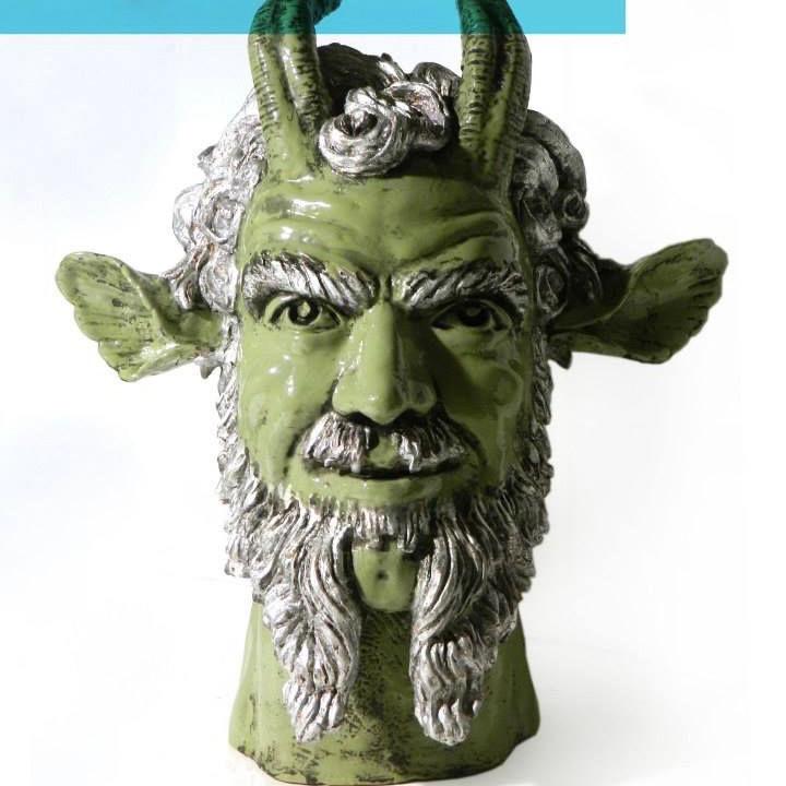 'Capri' porcelain head sculpture by Maurizio Lo Castro