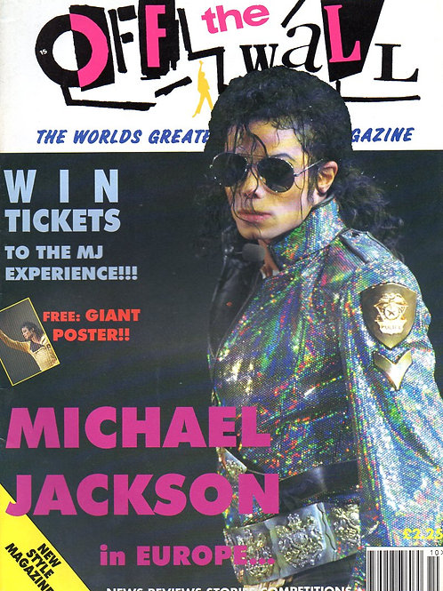 1992 #18 OFF THE WALL UK MAGAZINE MICHAEL JACKSON + flyer