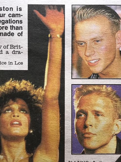 1989 Nov 'Furry Fury Over A Bed' BROS Daily Mirror Newspaper Article