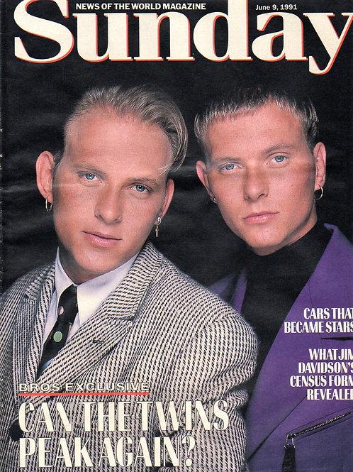 June 1991 News Of The World Article featuring Matt Goss & Luke Goss of pop group BROS
