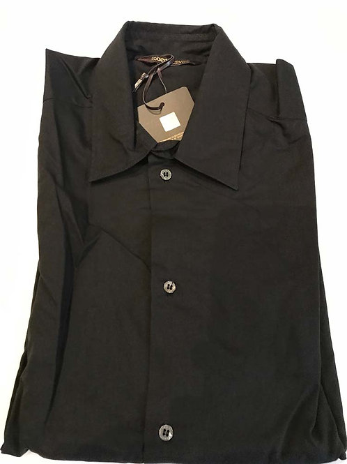 NEW Roberto Cavalli Formal Black Luxury Shirt Size 48 (EUR) 38 (UK) Medium