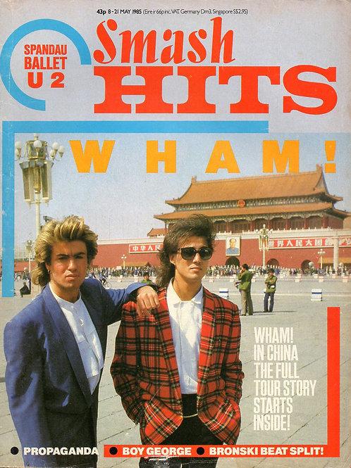 SMASH HITS MAGAZINE MAY 1985 WHAM! BOY GEORGE BRONKSI BEAT