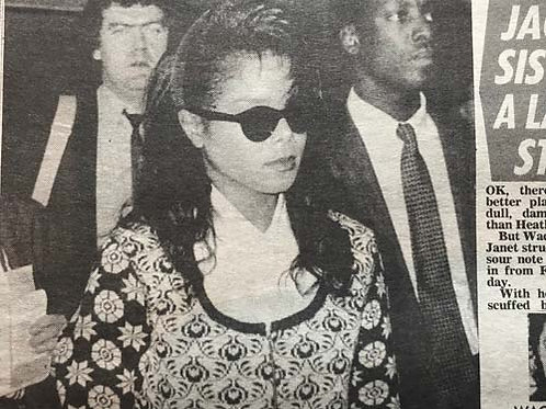 DAILY MIRROR News Article feat. JANET JACKSON Oct 20 1990