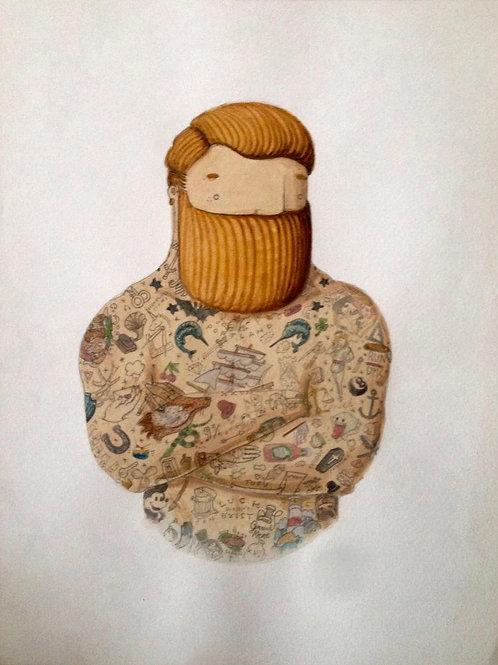 'Old School Tattooed Man' by NAKI
