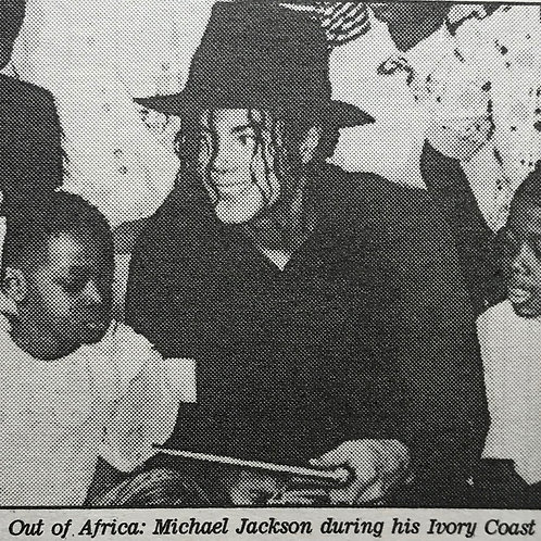 1992 The Message for Michael DAILY MAIL News Article MICHAEL JACKSON Africa