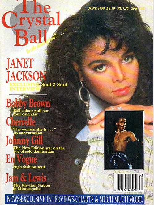 The Crystal Ball Magazine JUNE 1990 JANET JACKSON BOBBY BROWN EN VOGUE CHERRELLE