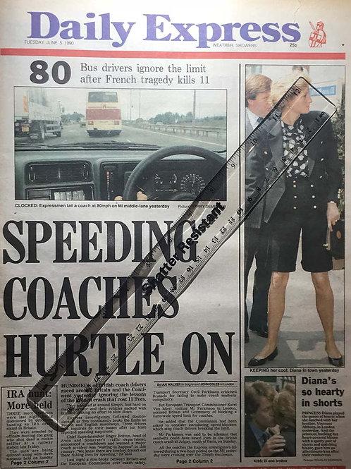 ITALIA '90 Football World Cup / Tennis ENTIRE Express Newspaper UK JUNE 5 1990