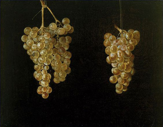 Juan Fernández 'Still Life With Hanging White Grapes'