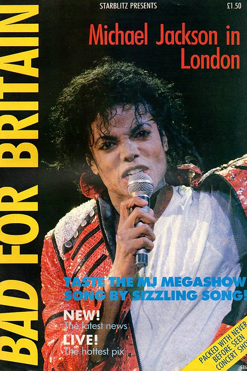 1988 #61 STARBLITZ BAD FOR BRITAIN Michael Jackson Magazine Excellent Condition