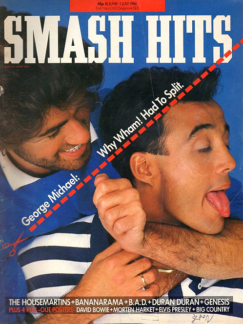 SMASH HITS MAGAZINE JUNE 1986 WHAM! DURAN DURAN DAVID BOWIE