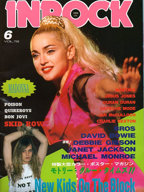Japanese INROCK Magazine featuring MADONNA, JANET JACKSON, BROS, DURAN June 1990