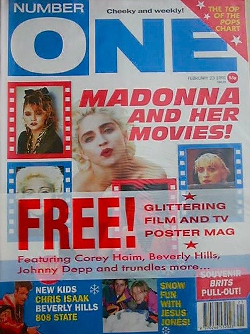 NUMBER ONE MAGAZINE FEB 1991 MADONNA NEW KIDS ON THE BLOCK