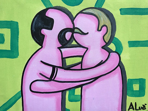 White City Gallery presents 'Love Is Love II' by street artist ALUA. Homosexuality. Gay. Equality