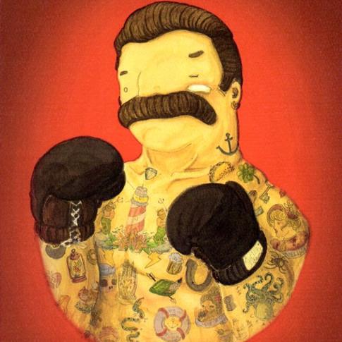 'El Boxeador in Rosso' by NAKI