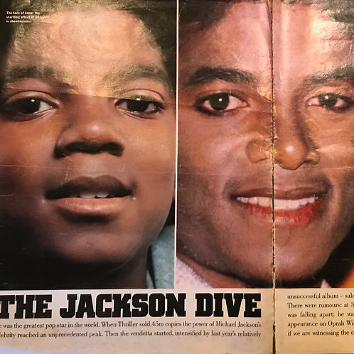 1992 SUNDAY TIMES MAGAZINE 8-page MICHAEL JACKSON ARTICLE RARE COLLECTABLE